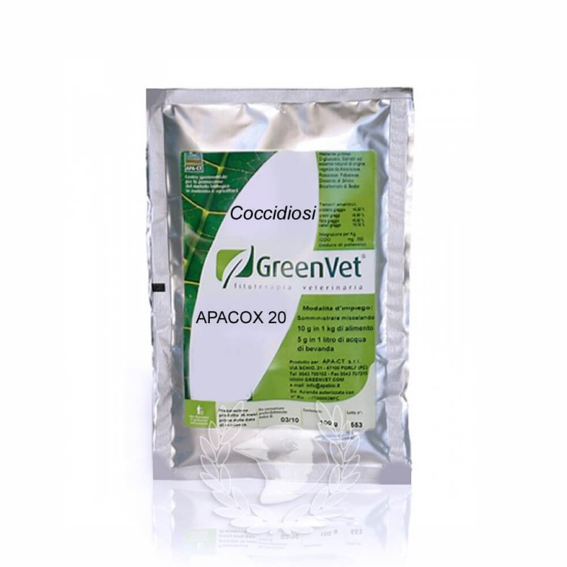 GreenVet Apacox 20 100gr Coccidiosis