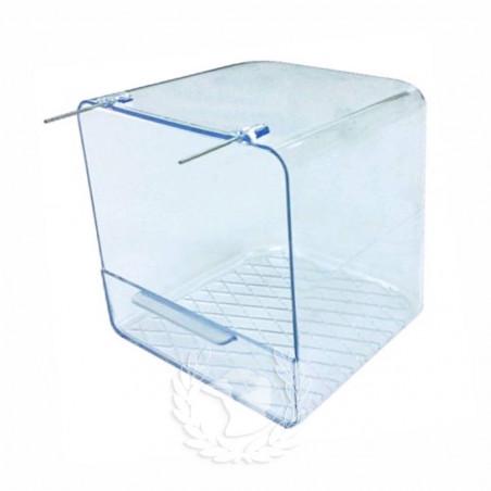 Bañera exterior con ganchos metálicos