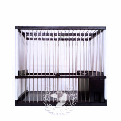 Jaula C1 Hierro Negro/blanco Gaviplast