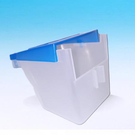 Comedero Individual gran capacidad Tapa Azul MA008