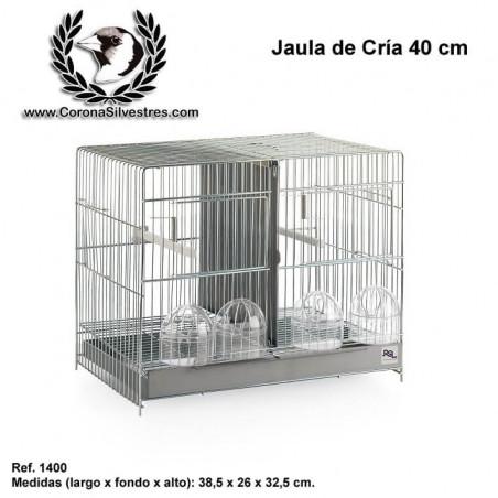 Jaula de Cría 40 cm Zincada