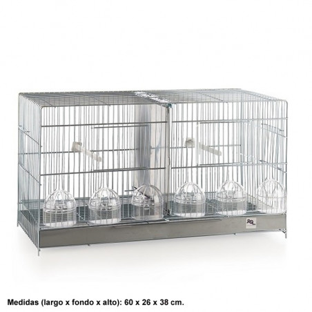 Jaula de cría 60 cm Puerta Guillotina  Zincada