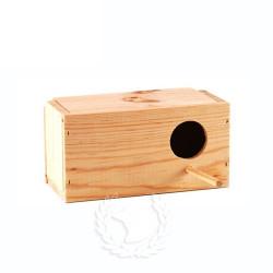 Nido para agapornis de madera  Horizontal