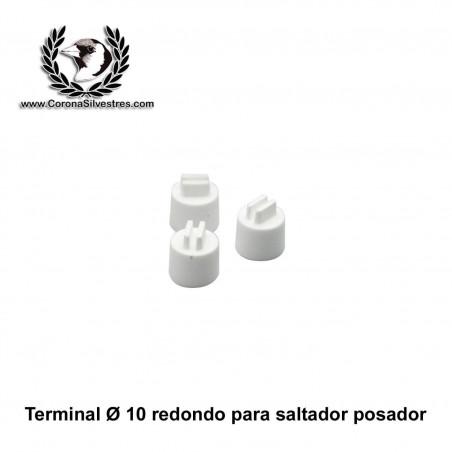 Terminal tapón redondo para saltador de 10 mm