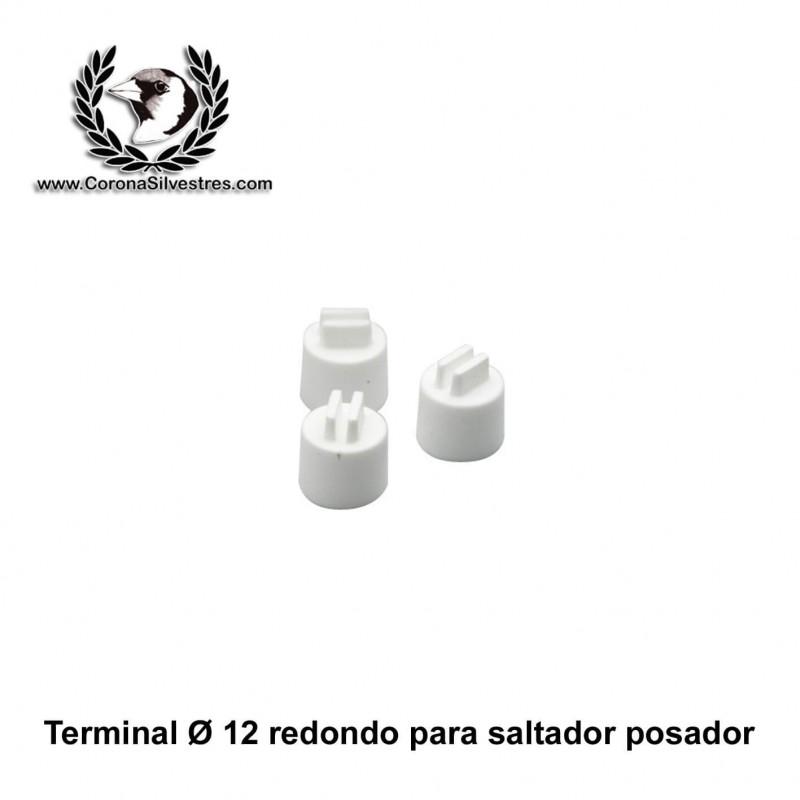 Terminal tapón redondo para saltador de 12 mm