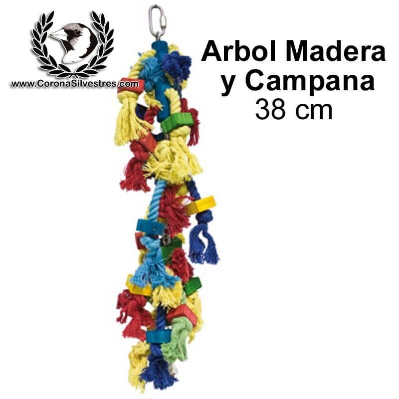 Juguete Arbol Madera y Campana 38 cm