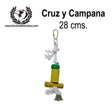 Juguete Cruz y Campana 28 cm