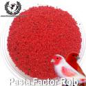 Pasta de cría para canarios de factor rojo