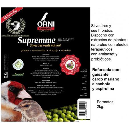 SUPREMME Silvestres verde natural 2 kg