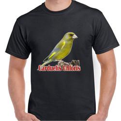 Camiseta Negra con Verderón 100% Algodón Impresión Vinilo