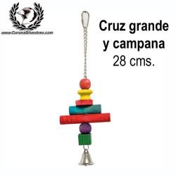 Juguete Cruz Grande y Campana 28 cm