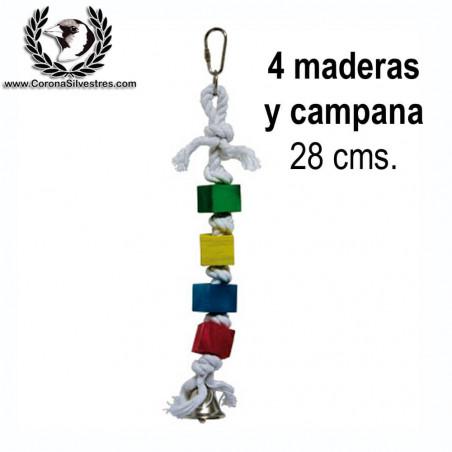 Juguete 4 Maderas y Campana 28 cm