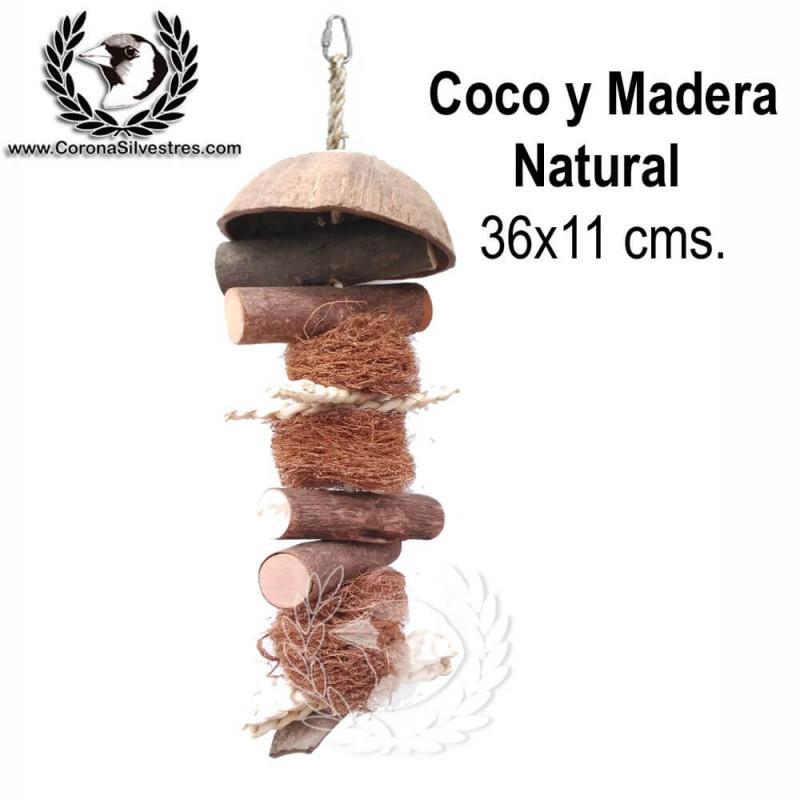 Juguete Coco y Madera Natural 35 x 11 cm