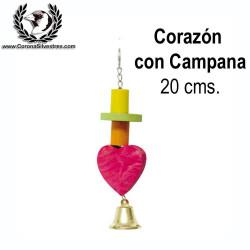 Juguete Corazon con campana 20 cm