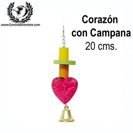 Juguete Corazón con Campana 20 cm