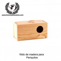 Nido de madera para periquitos