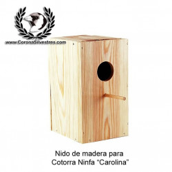 Nido Vertical de madera para cotorra Ninfa Carolina
