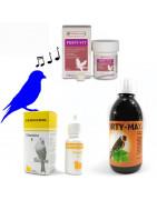 Vitaminas y aminoacidos para  épocas de cría,celo,canto y concurso de las aves